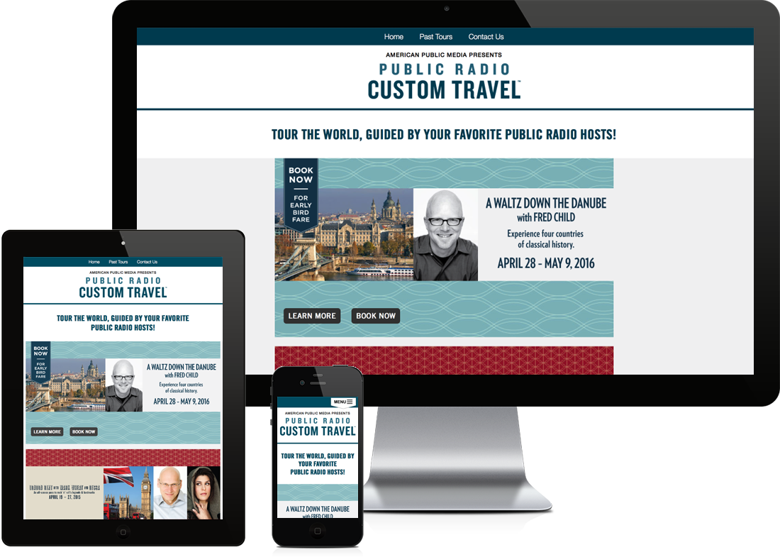 Public Radio Custom Travel website