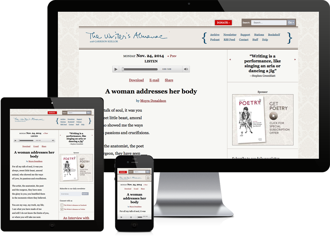 The Writer's Alamanac website